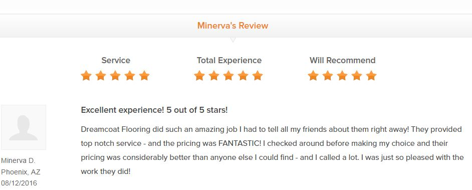 Customer Review for Dreamcoat Flooring