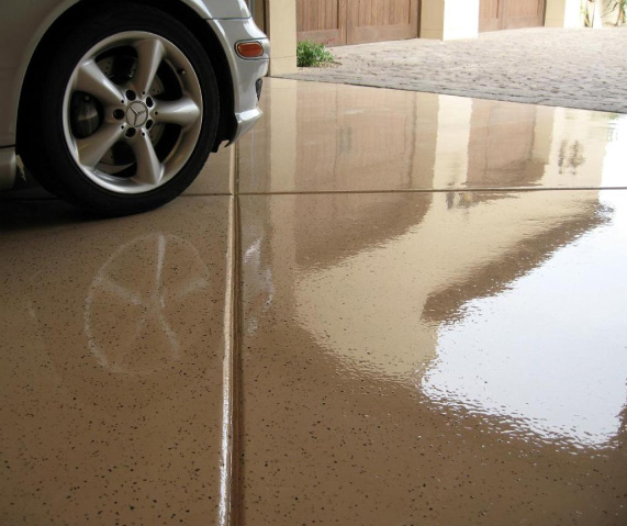 Photo gallery floor coating stained concrete dreamcoat for How to deep clean concrete floors