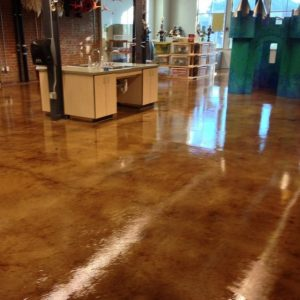 Acid Washed Concrete for Commercial Spaces