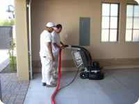 Our Dreamcoat Coating Diamond Grinding Process for Garage Floors