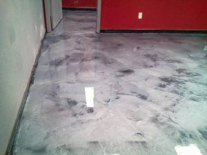 metallic epoxy garage floor by Dreamcoat Flooring
